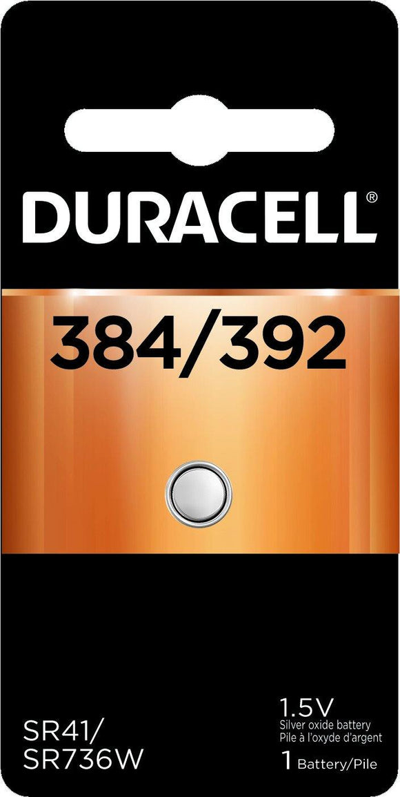 Duracell D384/392PK 1.5v Silver Oxide Button Cell