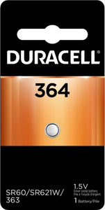 D364B Duracell 364 SILVER OXIDE BUTTON BATTERY