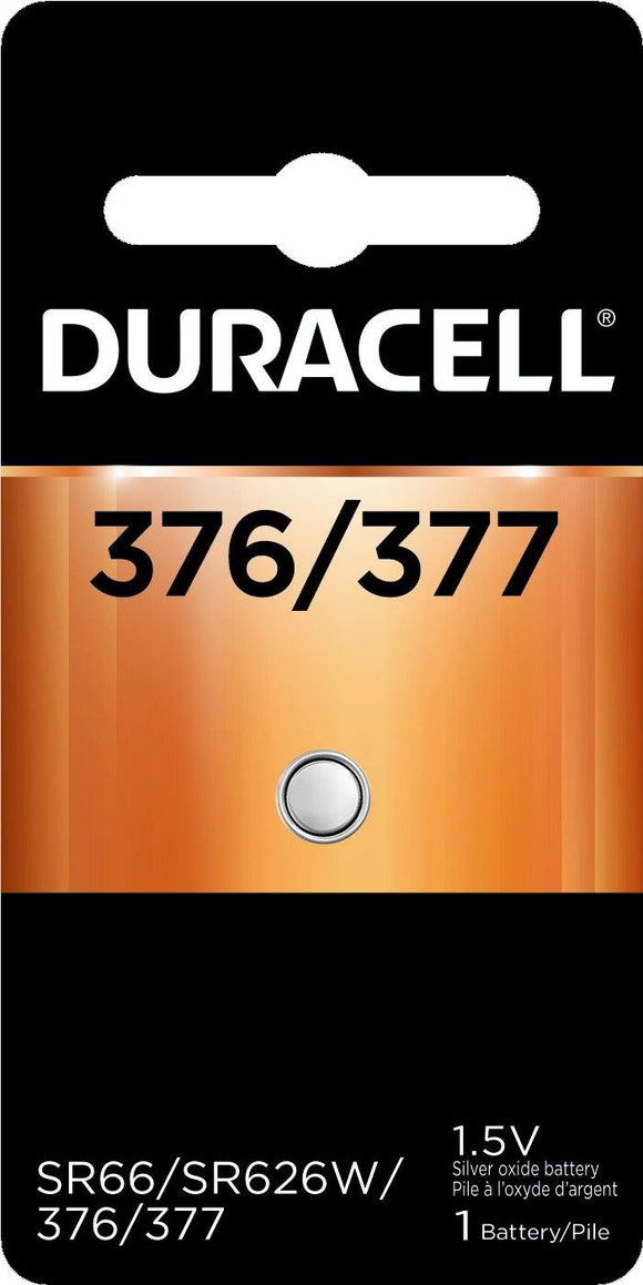 D377B Duracell 377 SILVER OXIDE BUTTON BATTERY