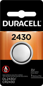 DL2430-1 Duracell 2430 Lithium Coin Cell Battery