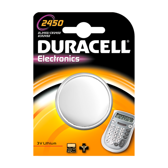 DL2450-1 Duracell 2450 Lithium Coin Cell Battery