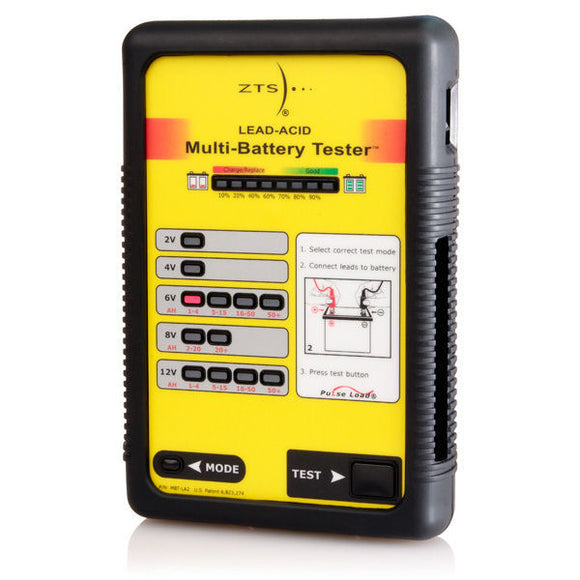 MBT-LA2/CL ZTS LEAD-ACID MULTI-BATTERY TESTER W/CLIP-TYPE LEAD SET (includes Accessory Kit)