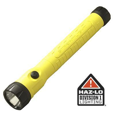 76412 Streamlight PolyStinger LED HAZ-LO - 120V/100V AC/12V DC Smart Charge - Yellow