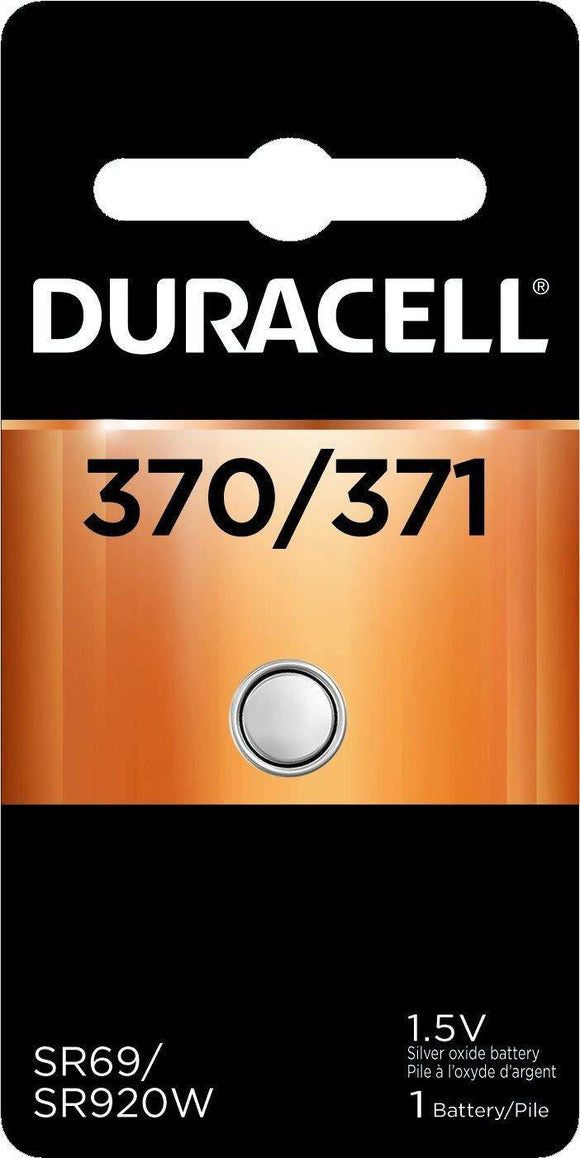 D370PK Duracell 370/371 SILVER OXIDE BUTTON BATTERY