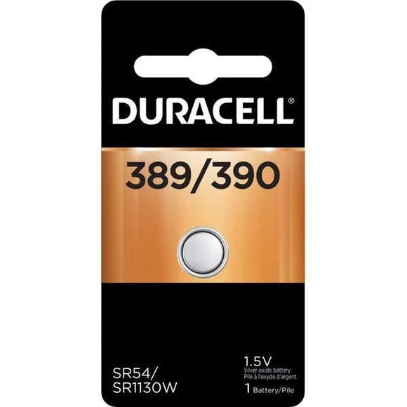 D389B Duracell 389/390 SILVER OXIDE BUTTON BATTERY