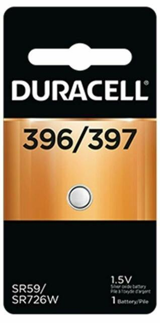 D396B Duracell 396/397 SILVER OXIDE BUTTON BATTERY