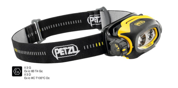 E78CHR 2 PIXA® 3R Rechargeable headlamp for use in ATEX explosive environments, suitable for proximity lighting, movement and long-range vision. 90 lumens - Alexander Battery