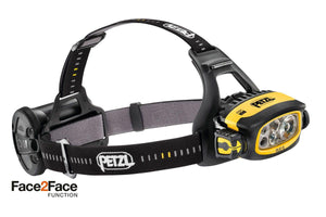 E80CHR  DUO S Ultra-powerful, rechargeable multi-beam headlamp, featuring the FACE2FACE anti-glare function. 1100 lumens - Alexander Battery