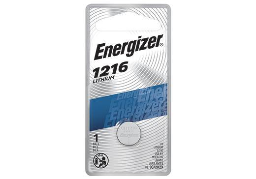 ECR1216BP ENERGIZER® 3-VOLT 1216 LITHIUM COIN CELL BATTERY
