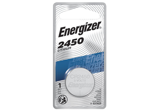 ECR2450BP ENERGIZER® 3-VOLT 2450 LITHIUM COIN CELL BATTERY