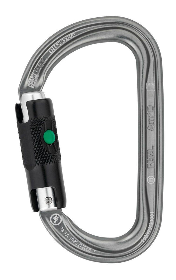 M34A BL  Am'D Lightweight asymmetrical carabiner - Alexander Battery