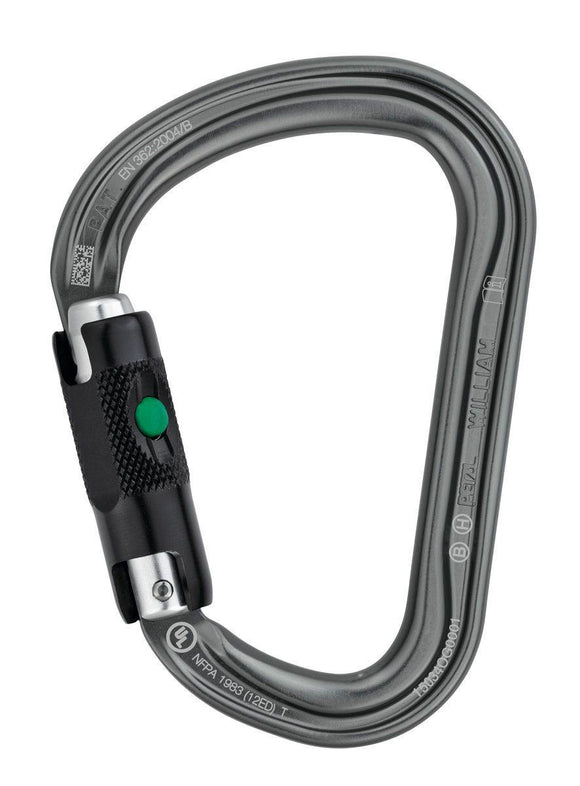 M36A BL WILLIAM Lightweight asymmetrical large-capacity carabiner - Alexander Battery