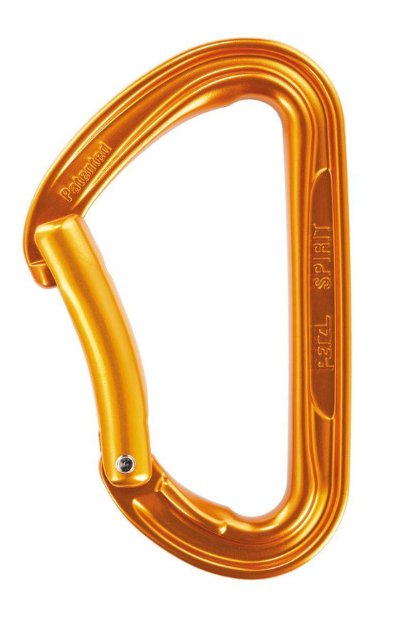 M53 B SPIRIT Versatile, lightweight carabiner for rock climbing, available in straight and bent gate versions