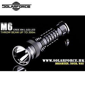 M6 Solarforce M6 Cree XM-L U2 LED 3-Mode 600 Lumens Flashlight (1 x 18650/2 x CR123A)