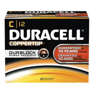 MN1400 Duracell Coppertop C Size Alkaline Battery 12 Pack