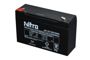 "N6-12T1 SLA NITRO 6V 12 AH BATTERY WITH TERMINAL T1 0.187"" - Alexander Battery"