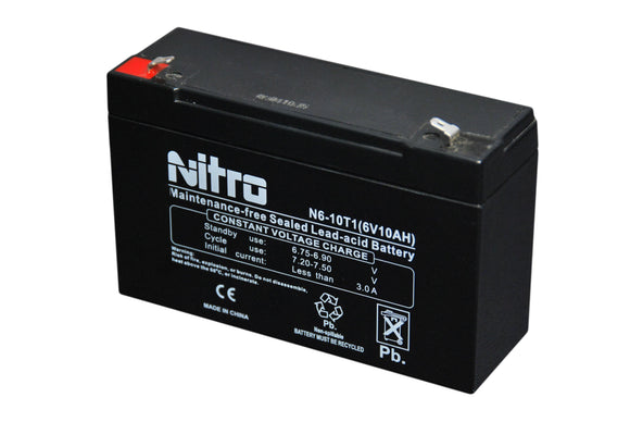 N6-12T1 SLA NITRO 6V 12 AH BATTERY WITH TERMINAL T1 0.187