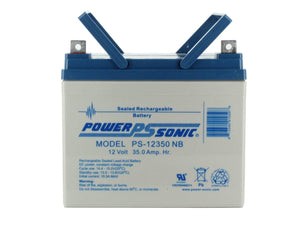 PS-12350NB Power-Sonic AGM General Purpose PS-12350 35Ah 12V Rechargeable Sealed Lead Acid (SLA) Battery - NB Terminal
