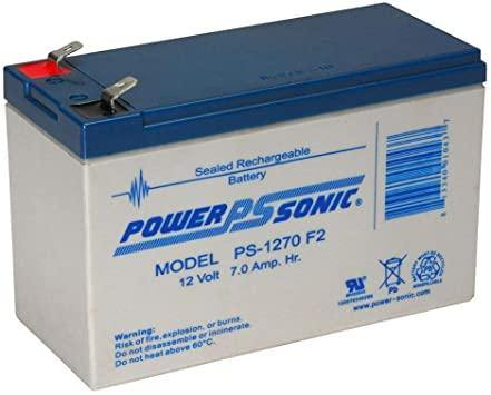 PS-1270F2 Powersonic 12V 7Ah Sealed Lead Acid - Alexander Battery