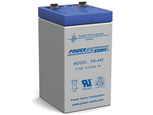 PS-445 Power-Sonic PS-445 4.5AH 4V Rechargeable Sealed Lead Acid (SLA) Battery - F2 Terminal