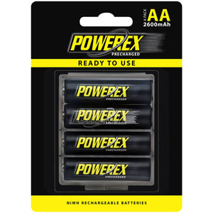 MHRAAP4 Powerex AA Size 2600mAh Rechargeable Ni-MH Battery (4-pack)