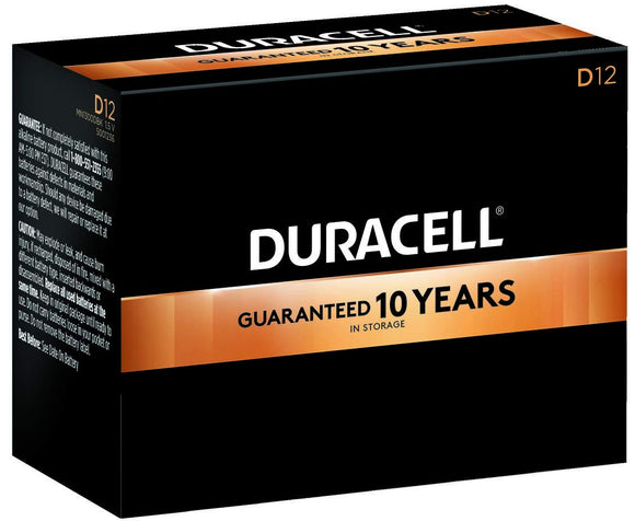 MN1300 Duracell Coppertop D Size Alkaline Battery 12 Pack