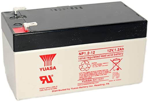 Yuasa NP1.2-12 (12.0 Volt, 1.2 AH) Sealed Lead Acid Battery