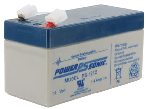 PS-1212 Power-Sonic AGM General Purpose  1.4Ah 12V Rechargeable Sealed Lead Acid (SLA) Battery - F1 Terminal