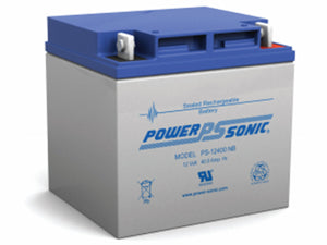 PS-12400NB Power-Sonic AGM General Purpose PS-12400 40Ah 12V Rechargeable Sealed Lead Acid (SLA) Battery - NB Terminal