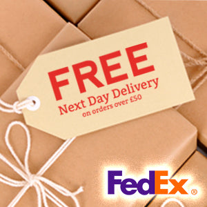 Free next day delivery on orders over £50