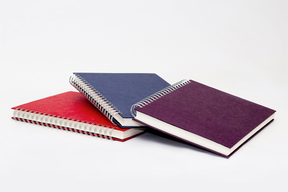 A pack of 3 sketchbooks in assorted silk tissue paper covers.
