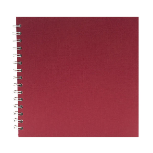 8x8 Square, Eco Red Sketchbook by Pink Pig International