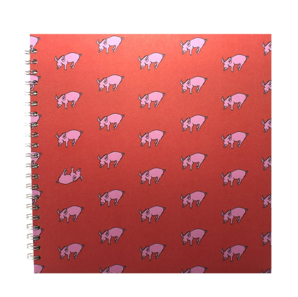 11x11 Square, Rooster Red Display Book by Pink Pig International