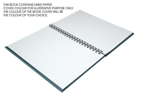 A4 Portrait Note Book, Eco Blue