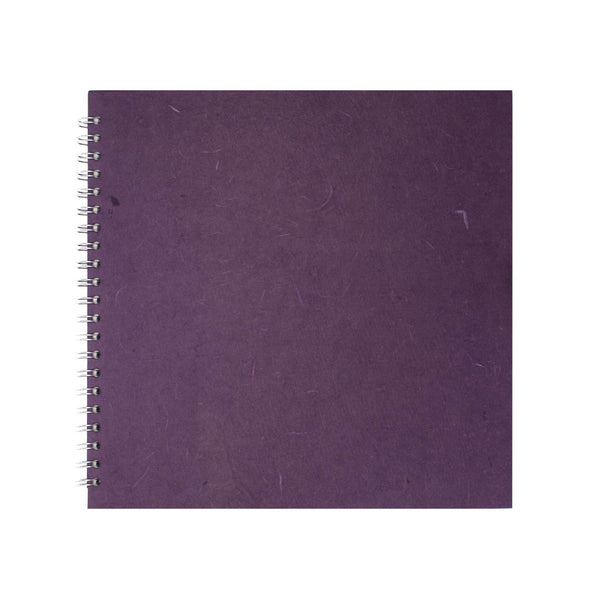 11x11 Square, Eco Aubergine Sketchbook by Pink Pig International