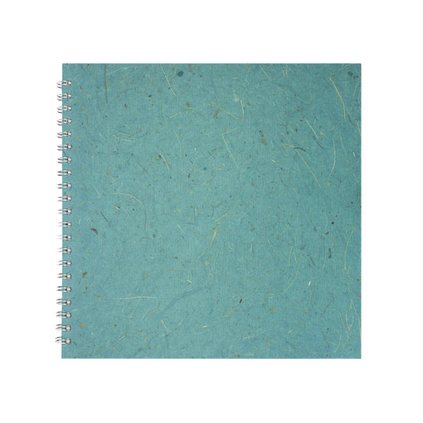 11x11 Square, Turquoise Sketchbook by Pink Pig International