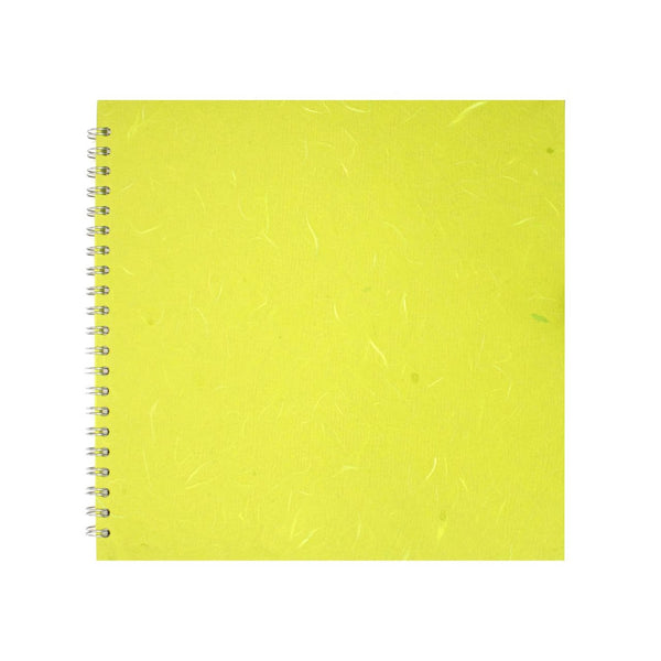 11x11 Square, Lime Green Sketchbook by Pink Pig International