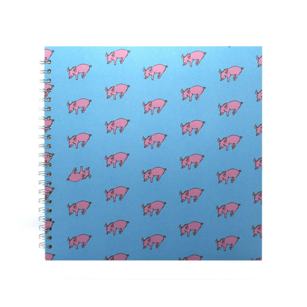 11x11 Square, Duck Blue Sketchbook by Pink Pig International