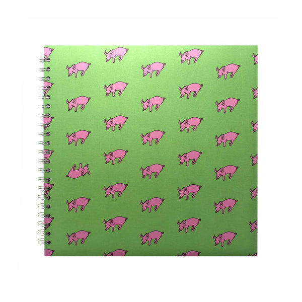 11x11 Square, Meadow Green Sketchbook by Pink Pig International