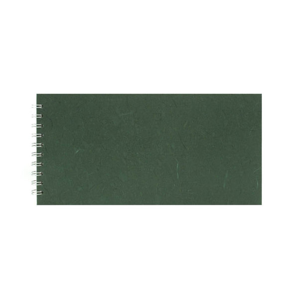 12x6 Landscape, Dark Green Watercolour Book by Pink Pig International