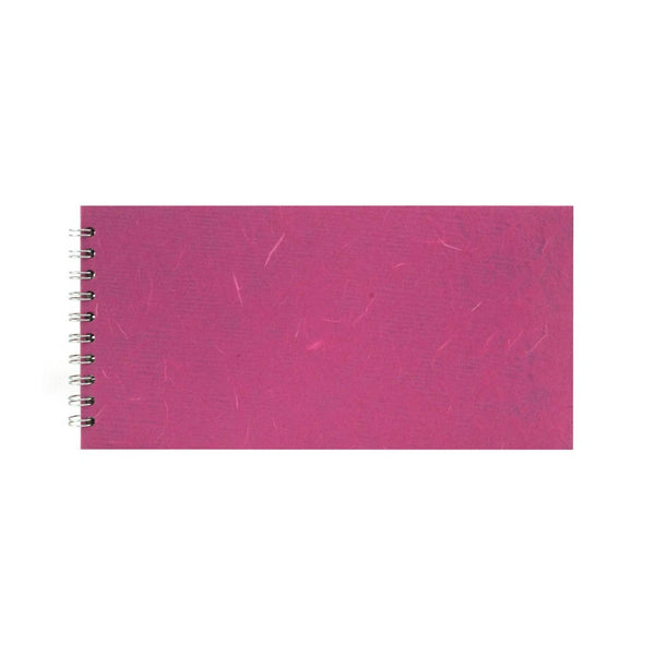 12x6 Landscape, Bright Pink Watercolour Book by Pink Pig International