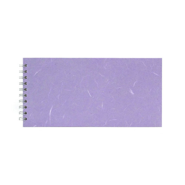 12x6 Landscape, Lilac Watercolour Book by Pink Pig International