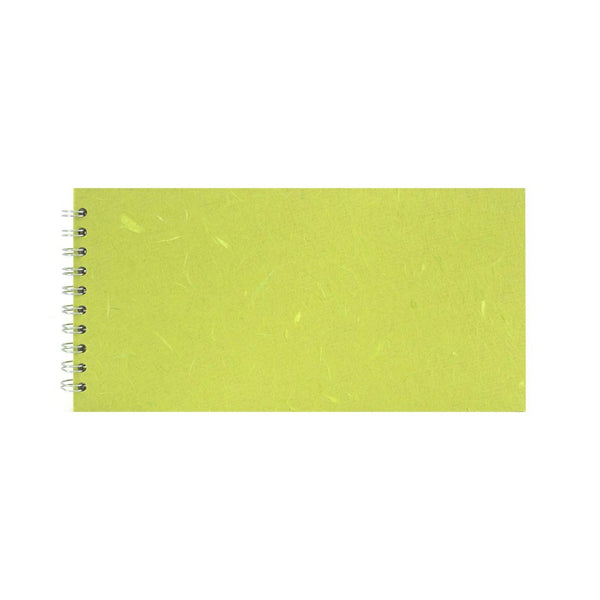 12x6 Landscape, Lime Green Watercolour Book by Pink Pig International