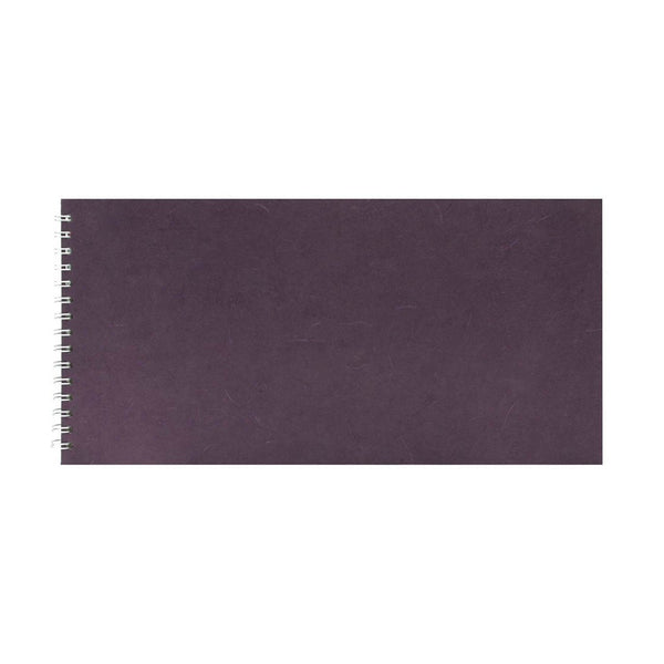 16x8 Landscape, Aubergine Watercolour Book by Pink Pig International