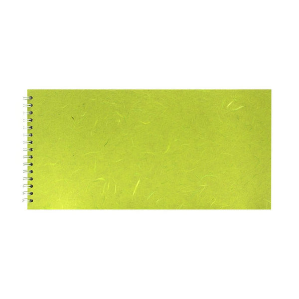 16x8 Landscape, Lime Green Watercolour Book by Pink Pig International