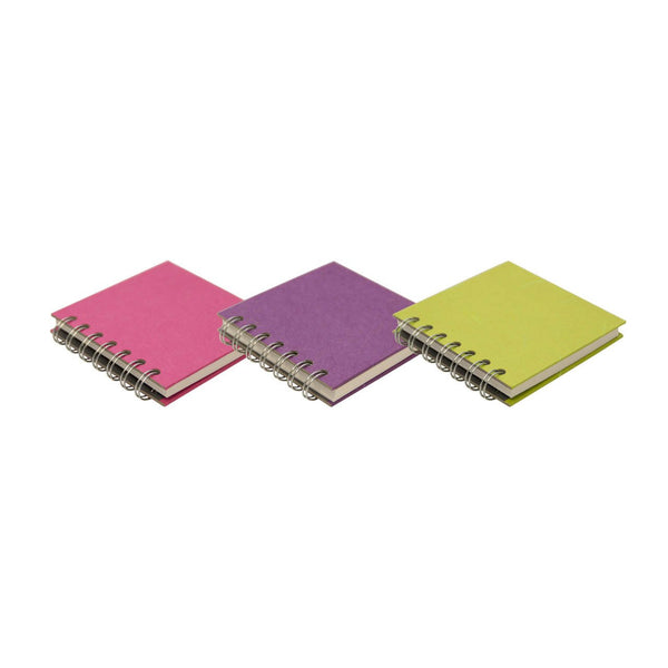6x6 Square Fat 3 Pack, Bright Sketchbooks by Pink Pig International