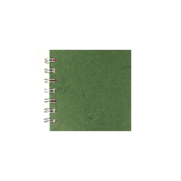 4x4 Square, Dark Green Sketchbook by Pink Pig International