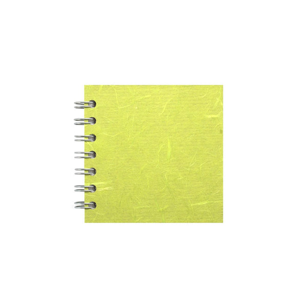 4x4 Square, Lime Green Sketchbook by Pink Pig International