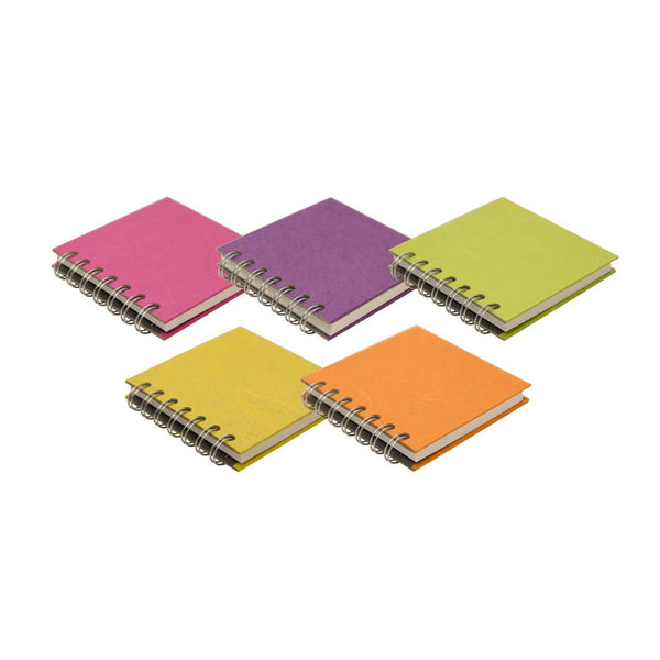 A6 Portrait 5 Pack, Bright Notebooks by Pink Pig International