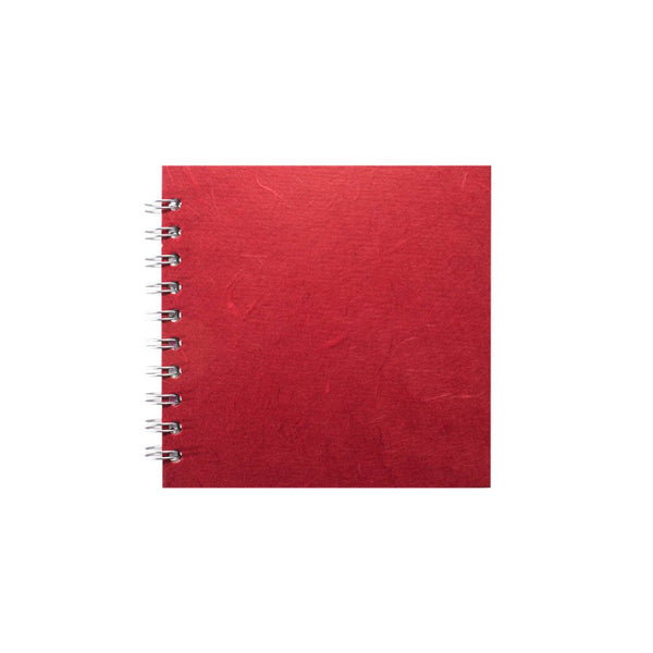 6x6 Square, Red Sketchbook by Pink Pig International